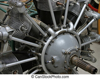 Radial Engine - A radial airplane engine.