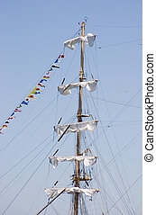 Ships Mast 2 - The mast of a sailing ship.