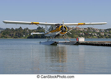 Seaplane #1 - A seaplane floats on standby.