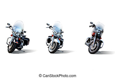 Three Motorcycles - three motorcycles