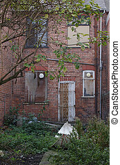 Dilapidated House 01 - An old, decrepit and dilapidated rear...