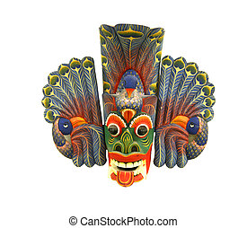 Peacock devil - The Sri Lankan Peacock Devi mask,l Mayura...
