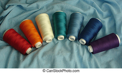 Tread Spools Rainbow - Spools with All Rainbow Colors...