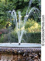 Garden fountain - English country garden, Sussex