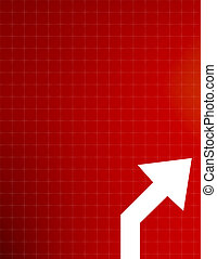 Forecast - Red background with arrow poiting upwards