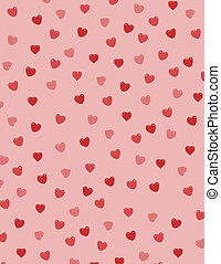 Valentine hearts - Background filled with red hearts