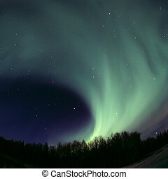 Round aurora rolling out - Northern lights rolling out on...