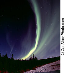 Narrow aurora arc - One of the nice and powerful aurora...