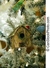 Birdhouse Christmas Tree