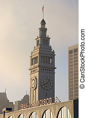 Clock Tower #1 - The clock tower of San Francisco\'s Ferry...