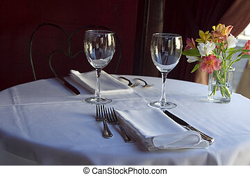 Table Setting 5 - A nice semi-formal table setting.