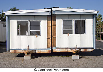 Trailer Trash 1 - A split in half mobile home