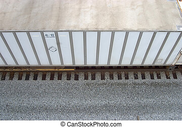 Box Car 1 - A rail freight car viewed from above