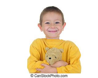 Teddy Boy - Boy with his teddy bear