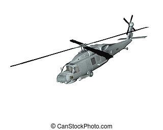 Blackhawk Style Heli - Isolated blackhawk style helicopter