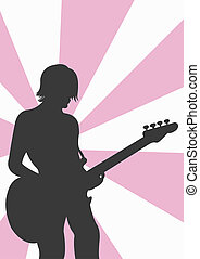 Bass player - A vector illustration of a bass player