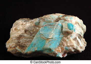 Amazonite crystals in matrix