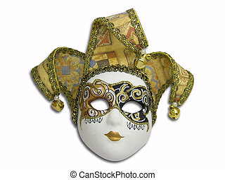 Beautifull venetian mask isolated on white