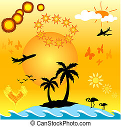 Summer design aids - Summer themed design aids