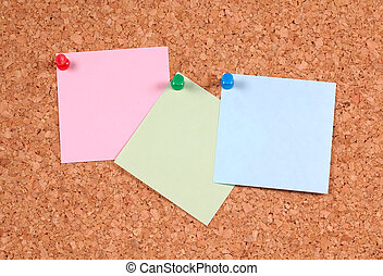Postit Notes on a Corkboard