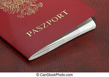 Polish Passport closeup