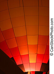 Hot air baloon 6 - Red and orange checkered baloon