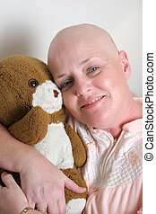 Road To Recovery - A cancer survivor hugging a teddy bear...