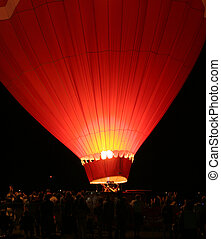 Hot air baloon 4 - Glowing red hot air baloon