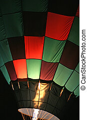 Hot air baloon 3 - Green and red checkered baloon