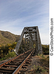 Train bridge - Train tracks and bridge