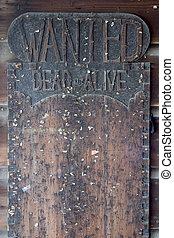 Wanted Dead or alive Board.