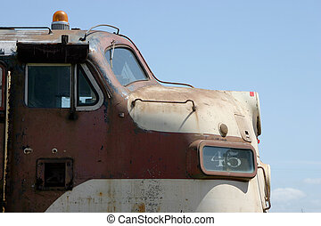 Old Locomotive - The nose of an old rusty locomotive.
