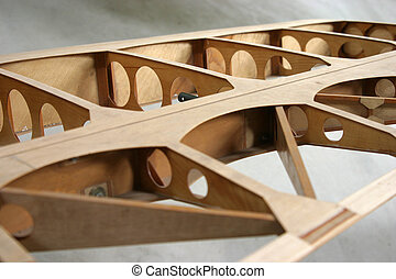 Wing Construction Detail - An airplane wing under...