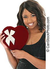 Woman Heart Candy - Beautiful 33 year old African American...