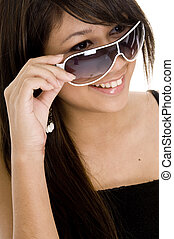 Cool 5 - A pretty young asian teenager in funky sunglasses