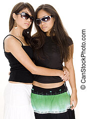 Cool Chicks 2 - Two cool young asian women in sunglasses on...