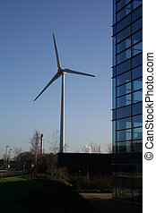 Business - Urban Wind Turbine and Office