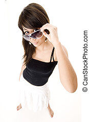 Wide Angle Cool 3 - A wide angle shot of a cool teen in...