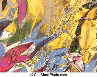 Colored foil - Aluminum foil reflecting colors