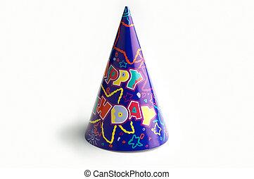 aislado, cumpleaños, gorra
