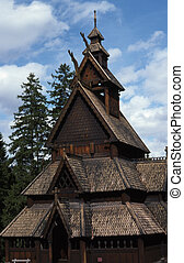 Stave church - The stave church from Gol in Norway
