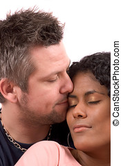 True love - Pretty diverse couple in love
