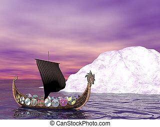 Drakkar Raider - Viking raider boat