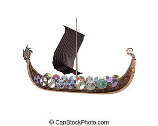 Drakkar - Isolated viking raider ship