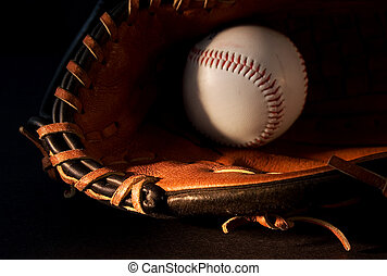 Baseball 3 - Close-up of baseball glove and ball
