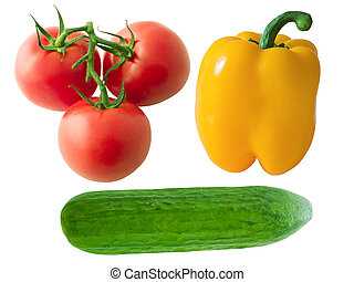 Vegetable group 1 - Salad set Tomatoes, yellow pepper and...