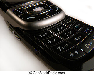 Cell Phone Keypad - Close up of Black Slider Cell Phone...