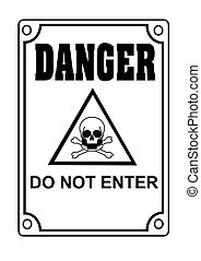 Do not enter! - Danger symbol