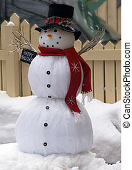 happy snowman - happy snow man red