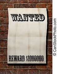 Wanted! - old paper blank